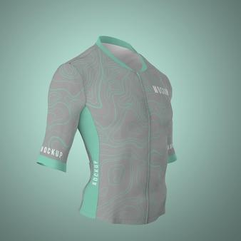 Maqueta de jersey de ciclismo aislado