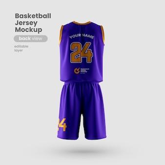 Maqueta de jersey para vista posterior del club de baloncesto