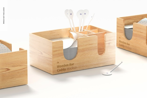 Maqueta de juego de carritos de barra de madera