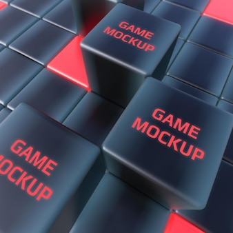 Maqueta de juego de cubos oscuros