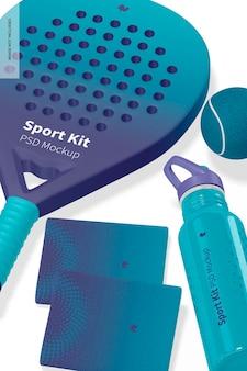 Maqueta de kit deportivo, primer plano