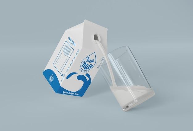 Maqueta de ladrillo de leche