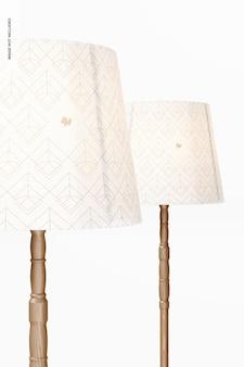 Maqueta de lámparas de pie, primer plano