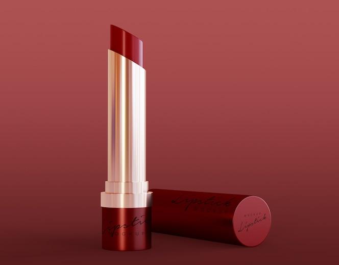maqueta de lápiz labial cosmético