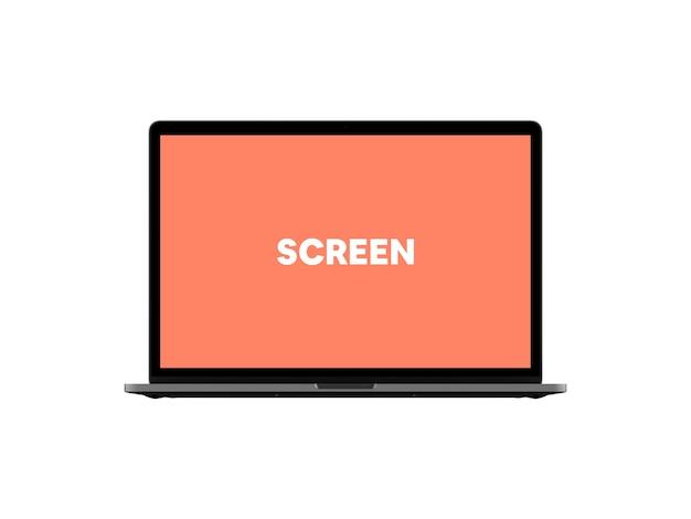 Maqueta de laptop vista frontal # 2