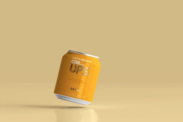 Maqueta de lata de aluminio de 250 ml aislada
