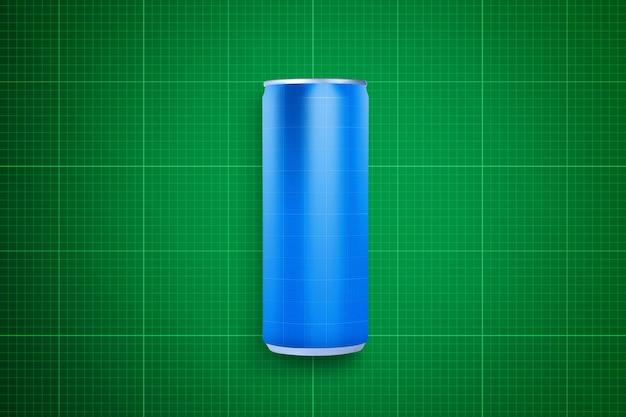 Maqueta de lata de bebida y botella de aluminio