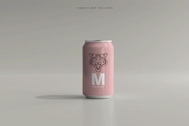 Maqueta de lata de cerveza o refresco de tamaño mediano de 330 ml