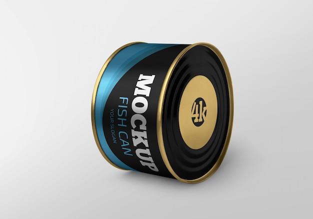 Maqueta de lata de pescado