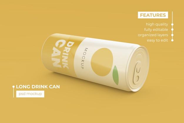 Maqueta de lata de refresco de calidad premium psd premium
