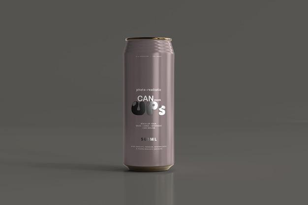 Maqueta de lata de refresco elegante de 500 ml PSD gratuito