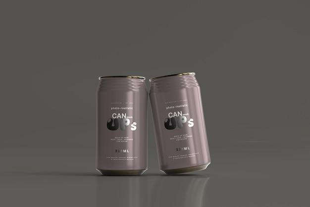 Maqueta de lata de refresco estándar de 330 ml