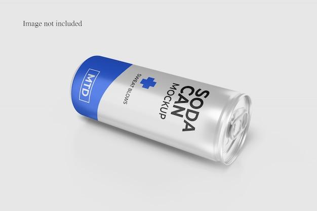 Maqueta de lata de refresco en primer plano