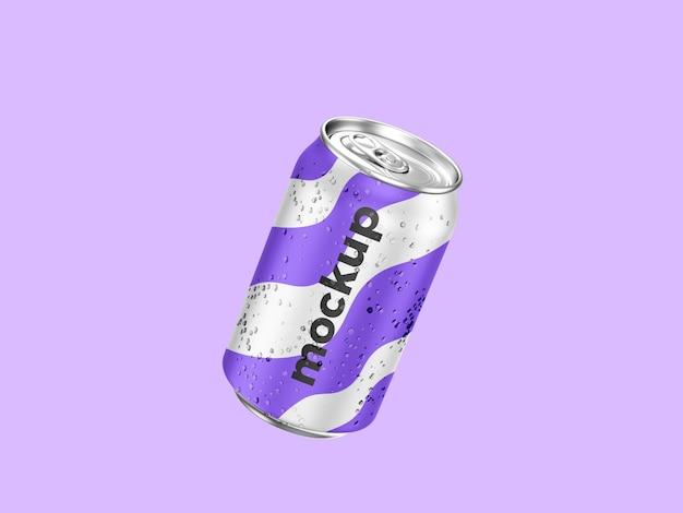 Maqueta de lata de refresco realista