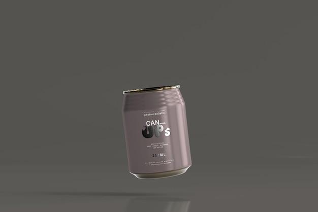 Maqueta de lata de refresco rechoncho de 250 ml