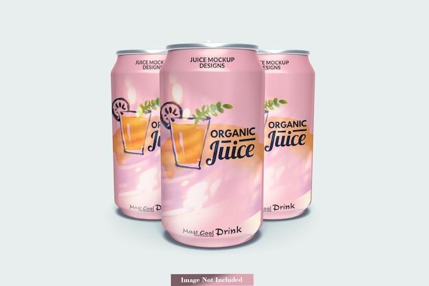 Maqueta de latas de refresco