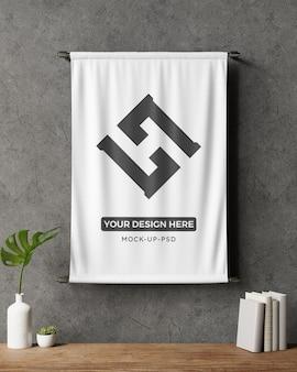Maqueta de letrero de bandera