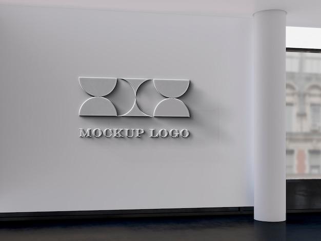 Maqueta de letrero de pared de oficina
