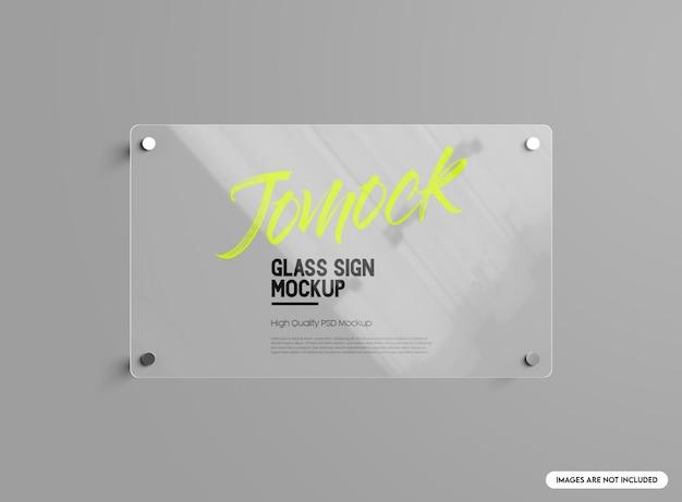 Maqueta de letrero de vidrio