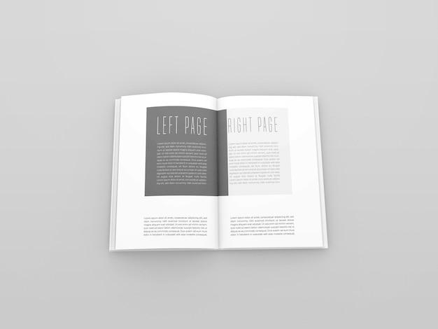 Maqueta de libro abierto