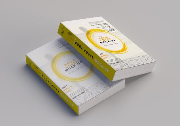 Maqueta de libro grande de tapa blanda