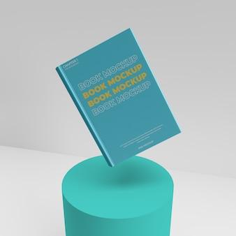 Maqueta de libro realista 3d render escenario escena volando