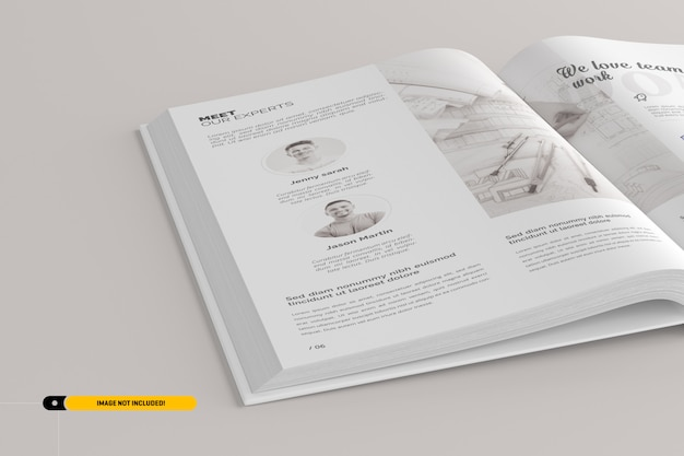 Maqueta de libro de retratos