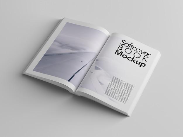 Maqueta de libro de tapa blanda