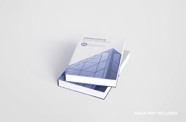 Maqueta de libro de tapa dura realista