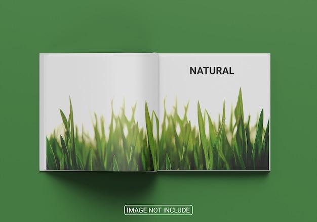 Maqueta de libro de tapa dura vista superior aislado