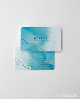 Maqueta limpia y elegante de tarjetas de visita.