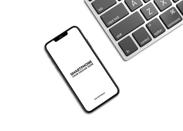 Maqueta limpia de teléfonos inteligentes