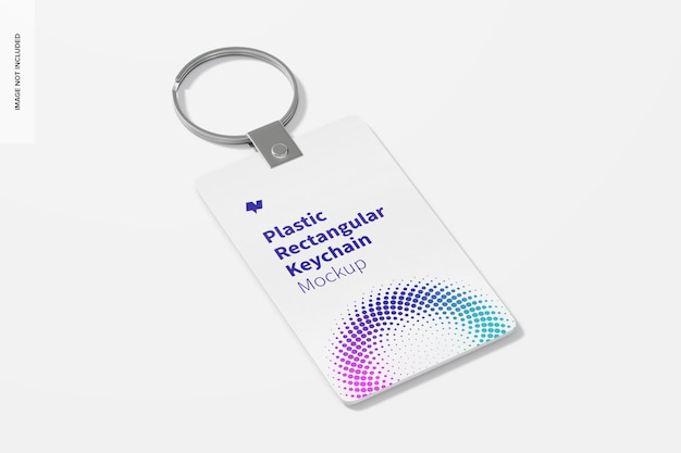 Maqueta de llavero rectangular de plástico
