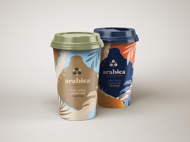 Maqueta para llevar una taza de café de papel PSD Premium
