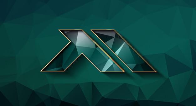 Maqueta de logo 3d realista en pared