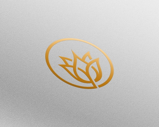 Maqueta de logo 3d