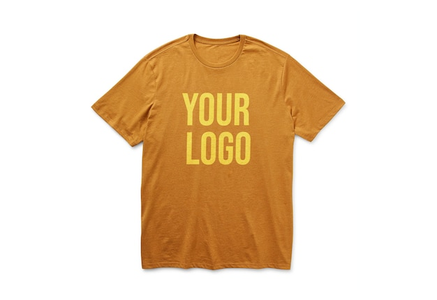 Maqueta de logo de camiseta aislado