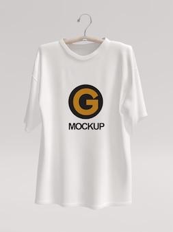 Maqueta de logo de camiseta blanca para mujer