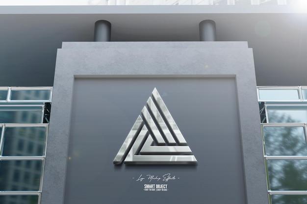 Maqueta de logo con fachada