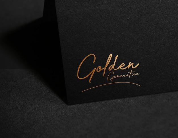Maqueta de logo de lujo en papel