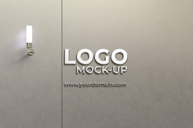 Maqueta de logo de pared