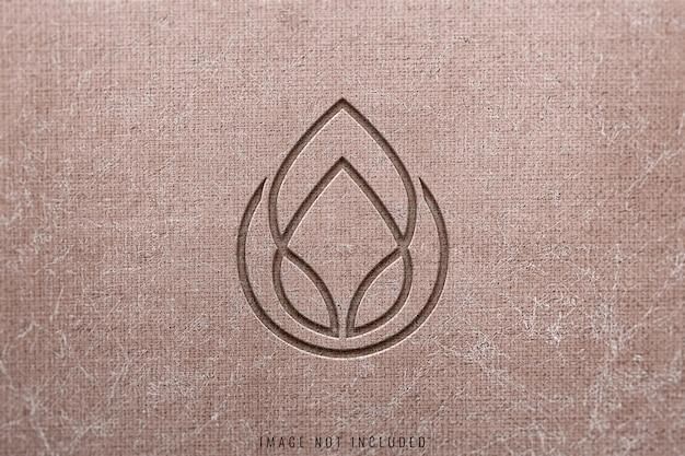 Maqueta de logo en textura concreta