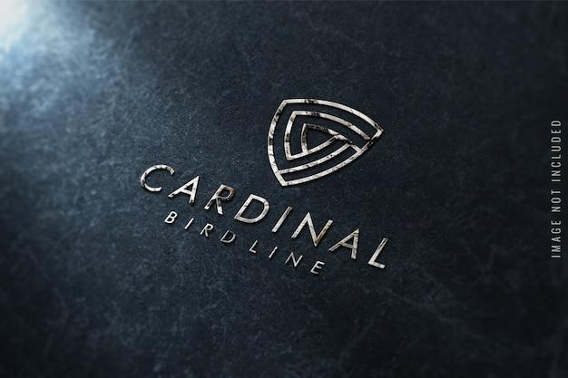 Maqueta de logo en textura de mármol