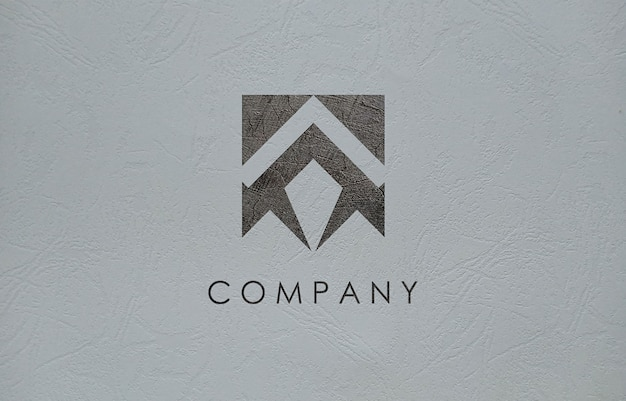 Maqueta de logotipo 3d para empresa comercial