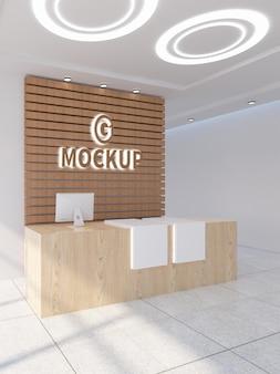 Maqueta de logotipo 3d de office