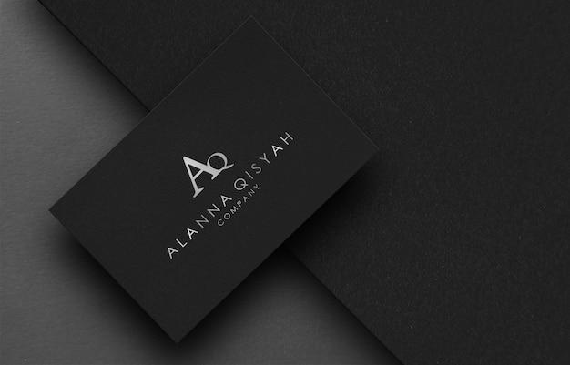 Maqueta de logotipo 3d en papel