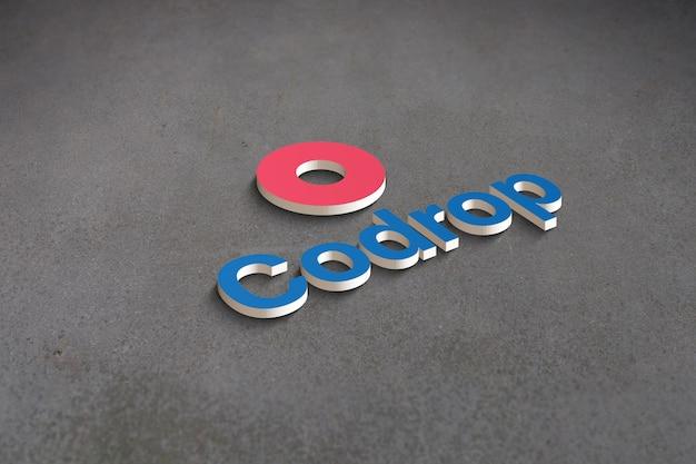 Maqueta de logotipo 3d