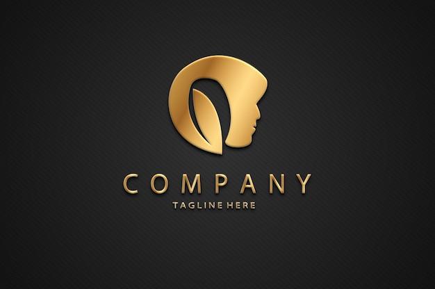 Maqueta de logotipo de belleza de lujo