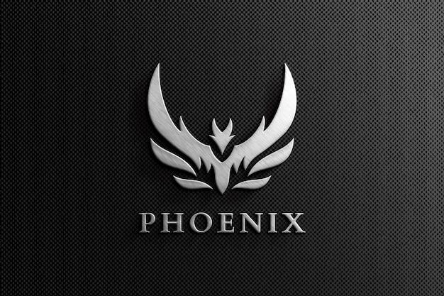 Maqueta del logotipo brillante de clean 3d company
