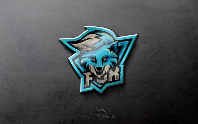 Maqueta de logotipo deportivo realista